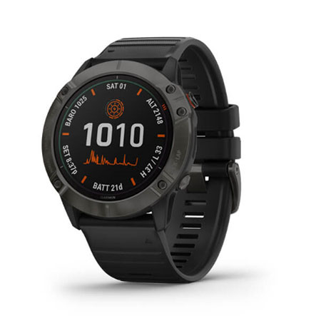 Garmin Fenix 6X Carbon Gray DLC